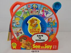 See N Say Safe N Sound Vintage 1994 Mattel New And Works With Tags