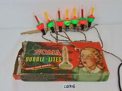 Vintage Noma Bubble Lites Lights Original Box No. 509 1940's Red And Yellow