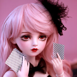 1/3 Ball Jointed Girls 60cm Bjd Doll With Changeable Eyes Wigs Clothes Kids Gift