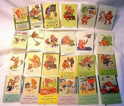 Lawson Wood - Lot Of 47 Early 1900's To 1950's Post Cards And Blotters -b. Offer