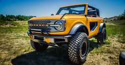 2021 Ford Bronco Orange 2, 24x36 Inch Poster, Awesome