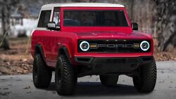 2021 Ford Bronco Red, 24x36 Inch Poster, Awesome