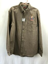 WOLVERINE BOSS BUCK NON-TYPICAL LONG SLEEVED BUTTON FRONT SHIRT - SIZE LG $23.75