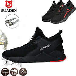 Men's Work Safety Shoes Steel Toe Cap Bulletproof Boots Indestructible Sneakers $48.99
