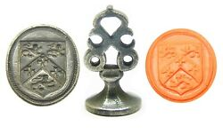 Wonderful 17th Century Silver Armorial Seal Of Fowler Excellent Condition