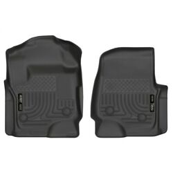 13321 Husky Liners Floor Mats Front New Black For F250 Truck F350 F450 Ford