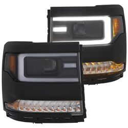 111373 Anzo Headlight Lamp Driver And Passenger Side New For Chevy Lh Rh Chevrolet