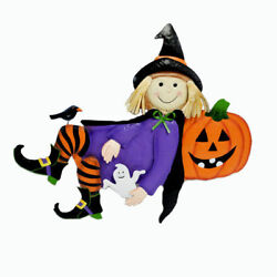 Lazy Day Metal Witch Sitter Halloween Indoor Outdoor Decor
