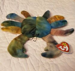 Beanie Baby Claude Crab Limited Edition Nwt Errors Rare Original Ty Display Box