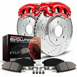 Kc3063 Powerstop 2-wheel Set Brake Disc And Caliper Kits Front For Volvo S60