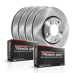 Tdbk2881 Powerstop Brake Disc And Pad Kits 4-wheel Set Front And Rear New For Cts