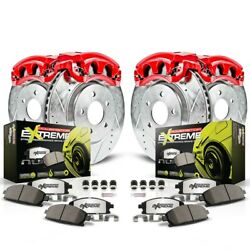 Kc4477-26 Powerstop 4-wheel Set Brake Disc And Caliper Kits Front And Rear
