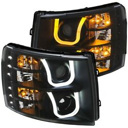 111384 Anzo Headlight Lamp Driver And Passenger Side New For Chevy Lh Rh Chevrolet
