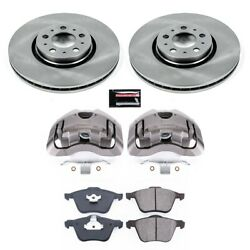 Kcoe3063 Powerstop Brake Disc And Caliper Kits 2-wheel Set Front For Volvo S60