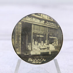 Antique Hand Mirror Advertising Carl Muller Store Germany Photograph Early Ad