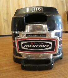 1968-1972 9.8 Hp Mercury 110 Outboard Top Cowl And Face Plate