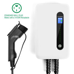 40a Ev Charging Station Level2 Electric Vehicle Charger J1772 14-50p 20ft Cable