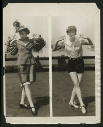 1920's Changing Fashions Of The Roaring Twenties, Flapper Vintage Photo