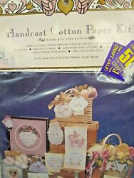 Handcast Cotton Paper Kit Package Damage Make 3-d Paper Items