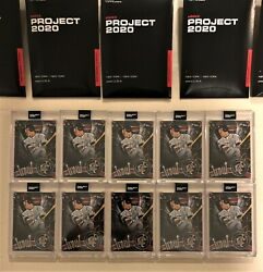 Lot Of 10x Topps Project 2020 51 - 2011 Mike Trout Us175 By Ben Baller In Hand