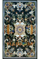 4and039x2and039 Marble Dining Table Top Pietra Dura Birds Inlay Art Living Room Decor B444