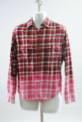 Upcicled Distressed Bleached Unisex Flannel Mohawk Gasoline Patched Sharpshooter