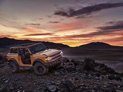 2021 Ford Bronco Sunset Poster   24 X 36 Inch   Awesome