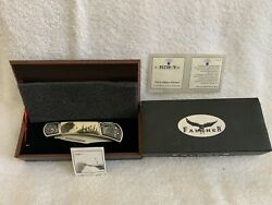 Falkner Stainless Steel Pocket Knife Collector's Edition 420 P.r.c.wolf