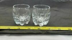Etched Glass - 2 Shot Glasses Hebrew Jewish Glass Cup