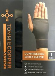 Tommie Copper Sport Compression Wrist Sleeve Brace Joint Pain Relief S/m L/xl