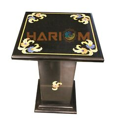 18 Marble Black Coffee Table Top Mosaic Inlay With 18 Stand Garden Decor B475