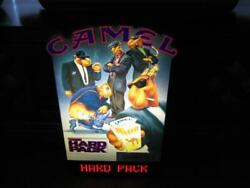 Rare Joe Camel Cigarettes The Hard Pack Lighted Scroll Embossed Sign 1991