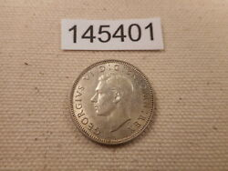 1942 Great Britain One Shilling - Very Nice Raw Collector Album Coin - 145401