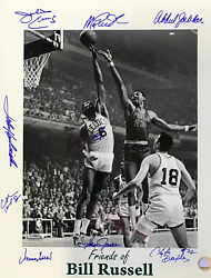 Friends Of Bill Russell Autographed 16x20 Basketball Photo