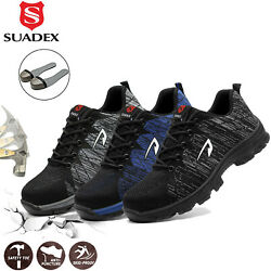 Mens Work Safety Shoes Steel Toe Cap Bulletproof Boots Indestructible Sneakers $38.99