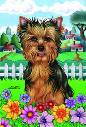 Spring House Flag - Yorkshire Terrier Yorkie Puppy 73108