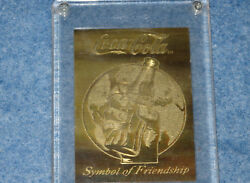1994 Coca Cola Brass Etched Card Be-1 Serial 0008 Of 5000 Collect-a-card E1567