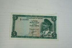 Government Of Brunei One And Five Ringgits