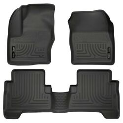 99741 Husky Liners Floor Mats Front New Black For Ford Escape C-max 2013-2017