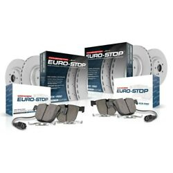 Esk6724 Powerstop 4-wheel Set Brake Disc And Pad Kits Front And Rear New For Vw
