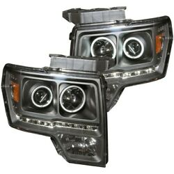 111298 Anzo Headlight Lamp Driver And Passenger Side New For F150 Truck Lh Rh Ford