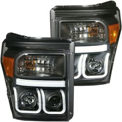 111292 Anzo Headlight Lamp Driver And Passenger Side New For F250 Truck F350 F450
