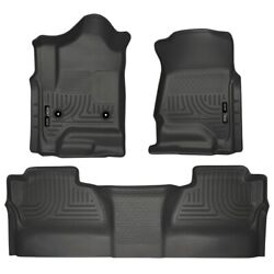 98231 Husky Liners Floor Mats Front New Black For Chevy Chevrolet Silverado 1500