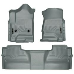 98232 Husky Liners Floor Mats Front New Gray For Chevy Chevrolet Silverado 1500