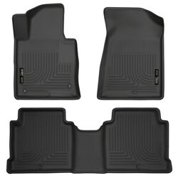 99631 Husky Liners Floor Mats Front New Black Sedan For Hyundai Sonata Optima