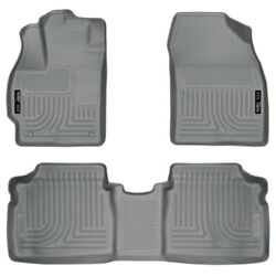 98922 Husky Liners Floor Mats Front New Gray For Toyota Prius 2010-2015