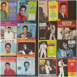 Lot Of 30 Elvis Presley 45 Rpm Records Original Picture Sleeves Mint Condition