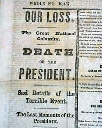 Abraham Lincoln Ford's Theatre John Wilkes Booth Assassination In 1865 Newspaper