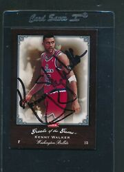 2005/06 Greats Of The Game 20 Kenny Walker Bullets Signed Auto D2977
