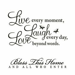 Wall Art Stickers for Living RoomLiving Inspirational Quote Sayings Decal Home